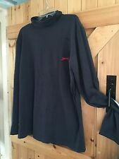 "Slazenger Polo Neck Mans Top Size L Chest 42"" In Navy Ideal Base Layer"