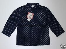 UNIQLO x Celia Birtwell Women 7/10 Sleeve Blouse Navy from Japan