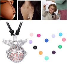 1Pc Magic Angel Wing Locket Pendant Pregnancy Necklace With Bell Ball New Gift