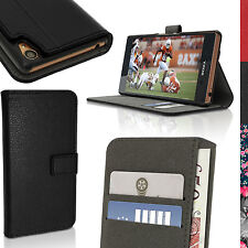 PU Leather Skin Flip Wallet Case for Sony Xperia Z3 D6603 Stand Book Folio Cover