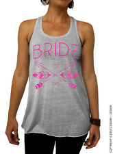 Bride - Feathers and Arrows Bridal Collection - Gray/Pink Flowy Tank Top