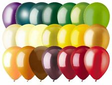 """12- 12"""" Solid Latex Balloons Autumn Inspired Color Palette Wedding Birthday Fall"""