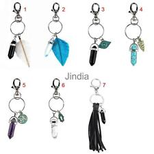 Lucky Bullet Natural Stone Keyring Key Chain Key Fob Finder Family Gift Trendy