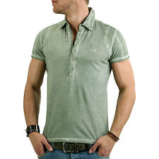 GAS Men's Short-sleeved Polo Shirt Baley Fade Green 2616