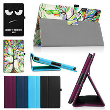 """For HP 10 G2 Tablet (2301) 10.1"""" Tablet Vegan Leather Folio Stand Case Cover"""
