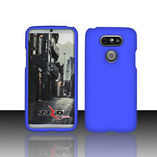 Blue Slim Solid Tough Style Snap Rubberized Cover Protector Phone Case for LG G5