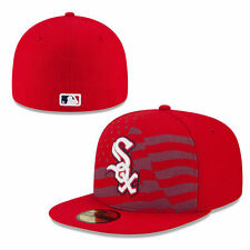 CHICAGO WHITE SOX MLB JULY 4TH ON FIELD NEW ERA 59FIFTY RED FITTED HAT/CAP NWT