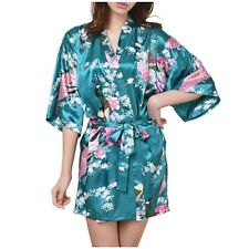 New Chinese Women Silk Rayon Mini Robe Sexy Kimono Bath Gown S M L XL XXL XXXL
