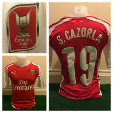 Santi Cazorla Player Spec Arsenal Emirates Cup Shirt Not Match Worn Issued Spain
