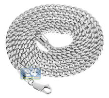 Italian Sterling Silver Solid Franco Curb Box Mens Chain 4 mm 26 30 36 inches