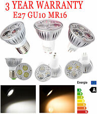 Epistar/Cree Dimmable Power Energy LED White Lamp Bulb Light 9W GU10 E27 MR16