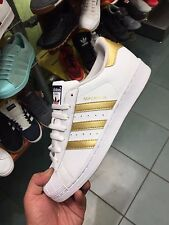 Adidas Superstar Gold Stripes White Youth Sizes