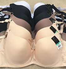 Lot Pink In Love Plain Black White Nude Wired Light Pad Full Cup D/DD Bra