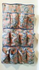 Vintage Fabric Door Hanger Organizer Bath and Beauty Childs Shoe Toy 1940s 50s