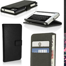PU Leather Flip Wallet Case for Sony Xperia Z5 Compact E5803 Stand Folio Cover