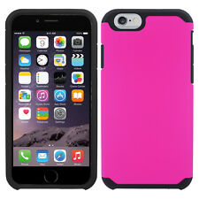 Hot Pink Dual Layer Slim Hybrid Cover Protector Phone Case Apple iPhone 5/5S SE