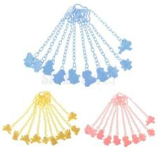 10pcs Baby Pacifier Soother Chain Clip Holder Pacifier Clip Feeding Accessories