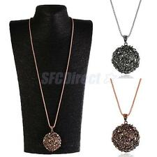 Fashion Women Jewelry Retro long Sweater Chain Necklace Rhinestone Pendant