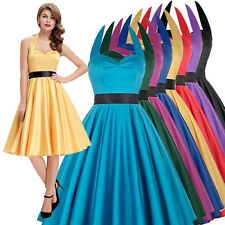 CHEAP 1950'S 50s 60 FULL CIRCLE SWING PINUP PARTY RETRO VINTAGE STYLE DRESS PLUS