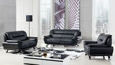 Modern leather sofa loveseat chair set couch ELM388
