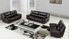 Modern leather sofa loveseat chair set couch furniture 5colors White Black Brown