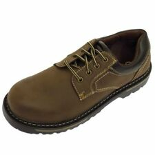 MENS BROWN LACE-UP WORK WEDDING SMART CASUAL LOAFER COMFORT SHOES SIZES 7-12