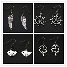 New Fashion Women's Earrings Lovely Rudder Four Leaves Clover Bird Wing