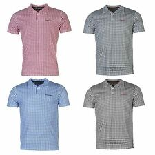 Pierre Cardin Mens Gents Check Polo Shirt Short Sleeve Clothing