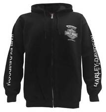 Harley-Davidson Men's Text Willie G Skull Skull Zippered Hoodie, Black