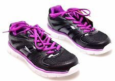 Catapult Womens Leather Black Sneakers Athletic Ladies Workout Shoes Size 6