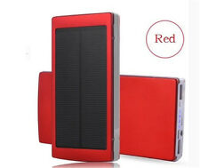 600000mAh Portable Solar Power Bank Dual USB LED Backup Charger Battery For HTC