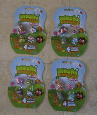 MOSHI MONSTERS ERASERS - 4 PACK - BRAND NEW - NEW REDUCED PRICE