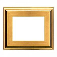 "CLASSIC MODERN PHOTO PICTURE ART PAINTING FRAME PLEIN AIR WOOD GOLD LEAF 3"" WIDE"