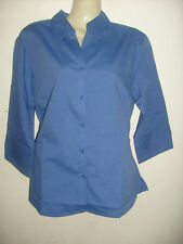 Ladies BLUE Office/casual/work shirt/blouse  3/4 sleeve, Size 12 & 14 NEW