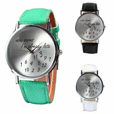 Unisex Women Watch Geneva Checkers Faux Leather Quartz Analog Wrist Watch #MSUS