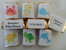 30 PERSONALIZED UNDER THE SEA THEME BABY SHOWER, BIRTHDAY PARTY CANDY LABELS