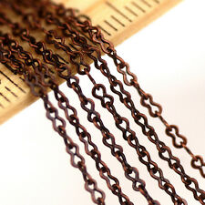 Bronze Copper Silver Plated Brass Figure Eight Link Chain 1.5mm c95(2ft)
