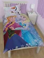 DISNEY FROZEN Reversible Anna, Elsa & Olaf Bedding Duvet Cover & Pillow Set