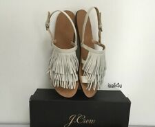 J.Crew Fringe Slingback Sandals NIB Women's Size: 7- 10 Color: Fresh Cream