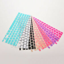 Silicone Keyboard Cover protector Skin for  Macbook air Pro MAC 13 15 17 QW