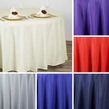 """20 pcs Wholesale Lot 108"""" ROUND POLYESTER TABLECLOTHS Wedding Party Decorations"""