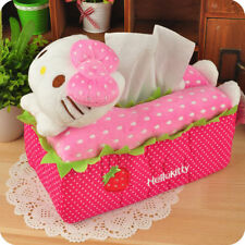 Hello Kitty Plush Tissue Box Case Covers Holder for Home Office Car Decoration
