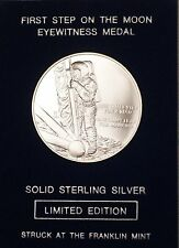 "Franklin Mint Limited Edition ""Apollo 15"" Space Sterling Silver UNC Medal"