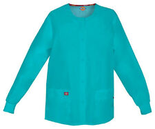 Scrubs Dickies EDS Snap Front Warm-Up Jacket 86306 Teal Blue TLWZ FREE SHIPPING