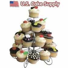 4-tier Curly Wire Metal Cupcake Stand, Holds 23 Cupcakes or Muffins