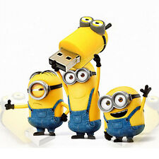 Stylish Minion KEY USB 2.0 Flash Drive 2GB 4GB 8GB 16GB 32GB Memory Thumb Stick