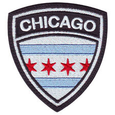 CHICAGO CREST FLAG EMBROIDERED PATCH