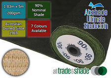 90% Shade Cloth 1.83M x 5M, Shadecloth in Multiple Colours