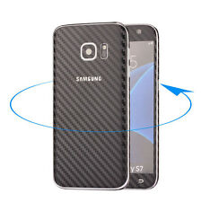 Ultra Thin Frosted Carbon Fibre Full Body Case Sticker For Samsung S7 & S7 Edge