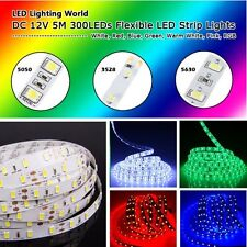 5M 3528 5050 5630 3014 300LEDs SMD Flexible Strip Light Lamp Home Decor Xmas
